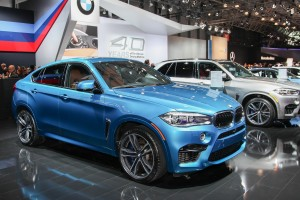 NEW YORK - APRIL 1: BMW exhibit  X6 M at the 2015 New York Inter